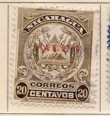 Nicaragua 1910 Early Issue Fine Used 5c. Surcharged 110931