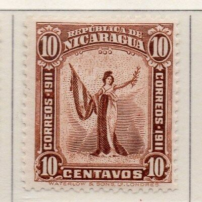 Nicaragua 1912 Early Issue Fine Mint Hinged 10c. 110964