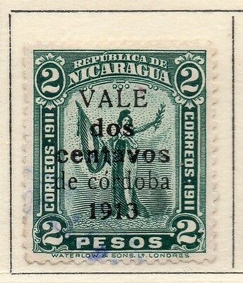 Nicaragua 1913 Early Issue Fine Used 2P. Surcharged 110979