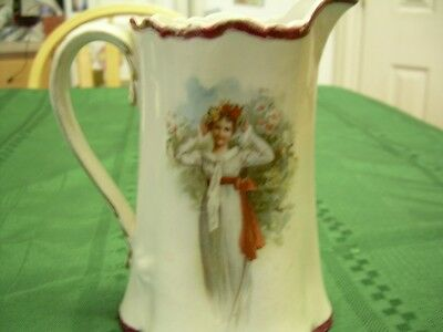 Harker Pottery Company Antique 1890's  Victorian syrup pitcher