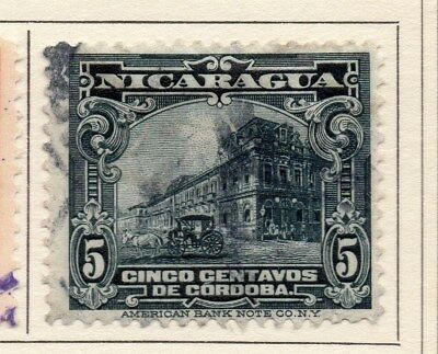 Nicaragua 1914 Early Issue Fine Used 5c. 110998