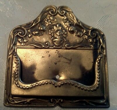 Antique/Vintage Brass Calling Card, Business Card Holder. Great Detail!