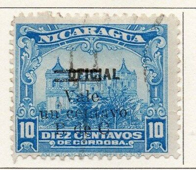 Nicaragua 1919-21 Early Issue Fine Used 1c. Surcharged 111012