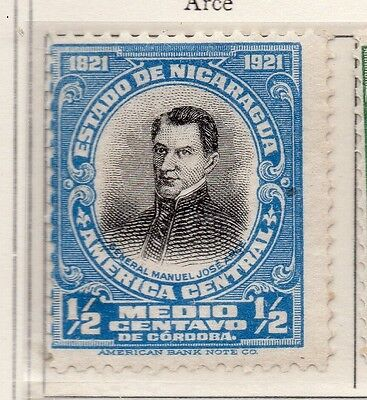 Nicaragua 1921 Early Issue Fine Mint Hinged 1/2c. 111015