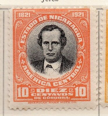Nicaragua 1921 Early Issue Fine Mint Hinged 10c. 111019