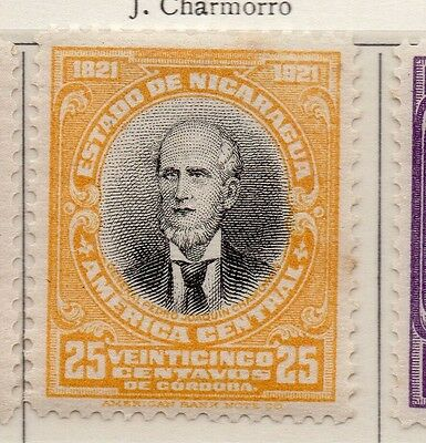 Nicaragua 1921 Early Issue Fine Mint Hinged 25c. 111020
