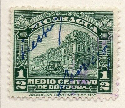 Nicaragua 1922-23 Early Issue Fine Used 1/2c. 111026