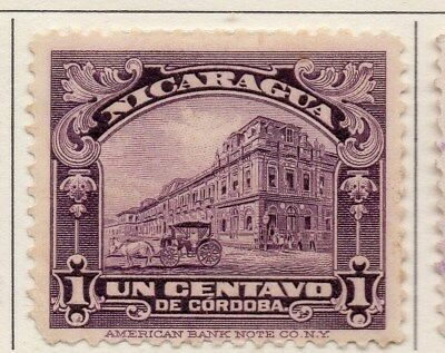 Nicaragua 1922-23 Early Issue Fine Mint Hinged 1c. 111028