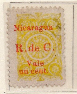 Nicaragua 1922 Early Issue Fine Used 1c. Surcharged 111035