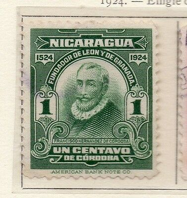 Nicaragua 1924 Early Issue Fine Mint Hinged 1c. 111041