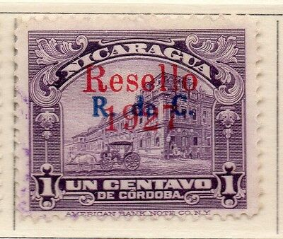 Nicaragua 1927 Early Issue Fine Used 1c. Optd 111047