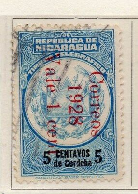 Nicaragua 1928-29 Early Issue Fine Used 5c. Surcharged 111066