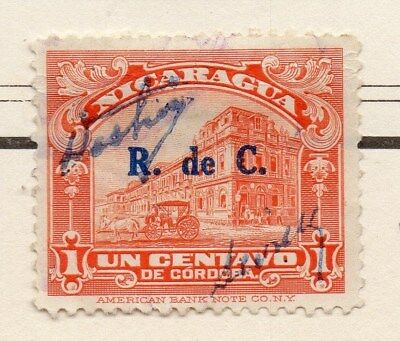 Nicaragua 1929 Early Issue Fine Used 1c. Surcharged 111084