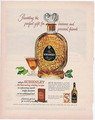 Schenley Whiskey1953 Illustrated Original Vintage Print Ad Free Shipping