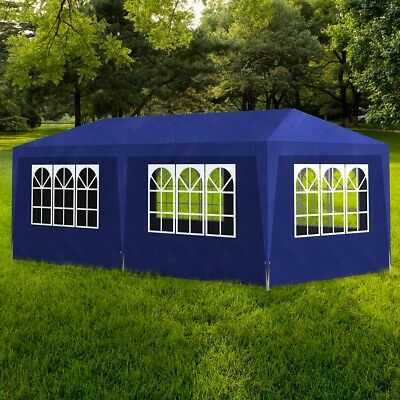 Gazebo 3x6m Blue Party Tent Marquee Folding Up Canopy Outdoor Wedding Event