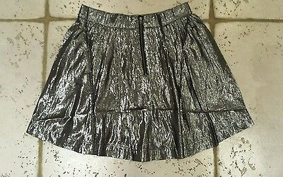 Bnwt Gap Girls Silver Festive Shine Party Lined Skirt Age 13-14 Years