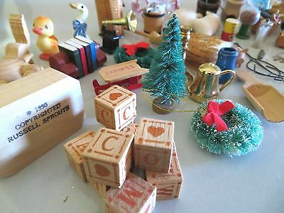 Lot Of Miniature Doll House Accessories,food Kitchen Utensils Animals Xmas New
