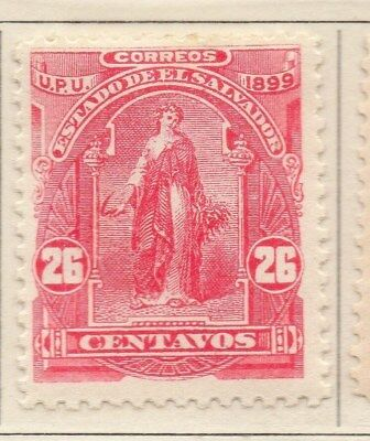 El Salvador 1899 Early Issue Fine Mint Hinged 26c. 111218