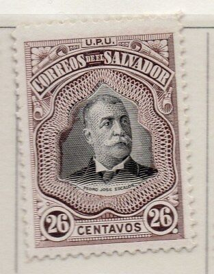 El Salvador 1906 Early Issue Fine Mint Hinged 26c. 111262
