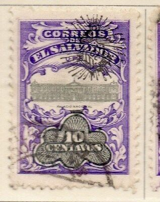 El Salvador 1907 Early Issue Fine Used 10c. Optd 111275