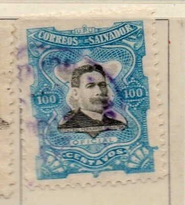 El Salvador 1910 Early Issue Fine Used 100c. 111297