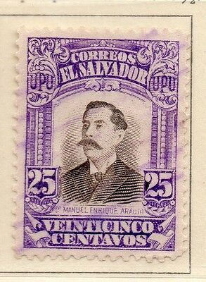 El Salvador 1913-14 Early Issue Fine Used 25c. 111317