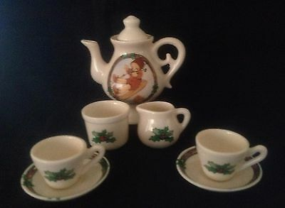 Memories Of Yesterday ~8 Piece Christmas Porcelain Tea Set ~ 1991 Lucie Attwell