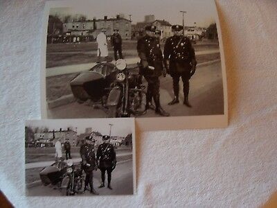 Nypd  Motorcycle   Side Car - Officer   Picture  Obsolete Picture  Uniform