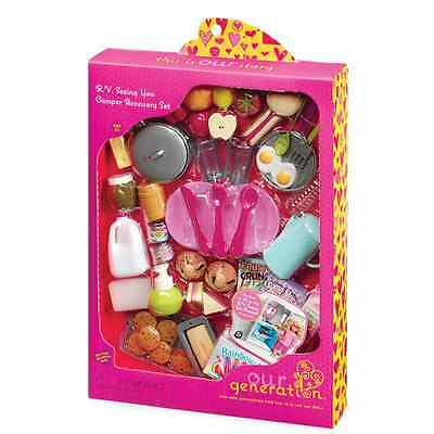 """Our Generation Dolls R.V. Seeing You Doll RV and Camper Accessory Set, 18"""""""