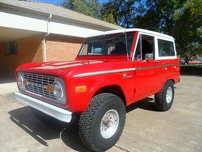1972 Ford Bronco Red 1972 Ford Bronco Convertible
