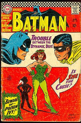 Batman #181 1St App Of Poison Ivy Centerfold Included Dc Comics