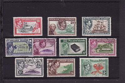Pitcairn Islands Pacific Ocean 1940 Definitive Set Complete Fine Used (L002)
