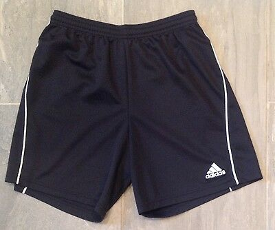 Youth Adidas Black Athletic Shorts, Size Large