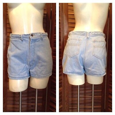 Vintage 70S 80S High Waisted Denim Jean Shorts Retro Festival Hipster