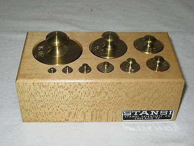 *  Stansi Scientific Co. 9 (Pcs) Brass Weight Set Scales *