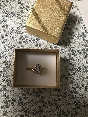 18 Ct Yellow Gold Diamond Ring With Valuation 9ct
