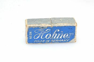 """Old Vintage 1 1/2"""" Hohner Harmonica No 39 with box"""