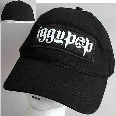 Iggy Pop! Puffy Patch Logo Black Baseball Hat Cap New!