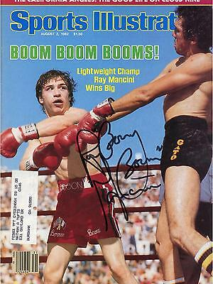 Ray Mancini Autographed August 2, 1982 Sports Illustrated Magainze