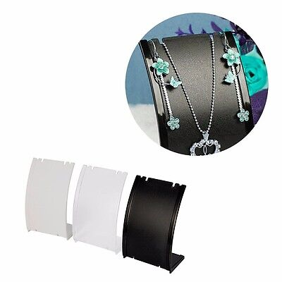 Necklace Chain Pendant Earring Bust Neck Display Stand Holder Showcase Plastic
