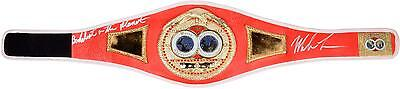 Mike Tyson Red Boxing Championship Belt w/ Baddest Man on the Planet