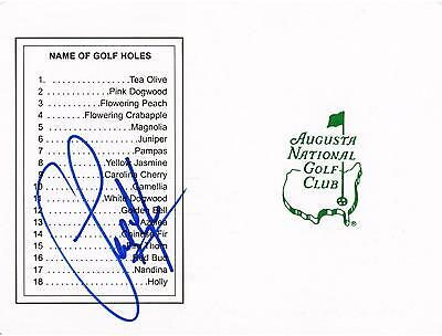 Sandy Lyle Autographed Masters Scorecard Signed in Blue