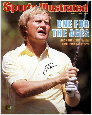 Autographed Jack Nicklaus Signed 16x20 April 1986 Sports Illustrated Cover Photo