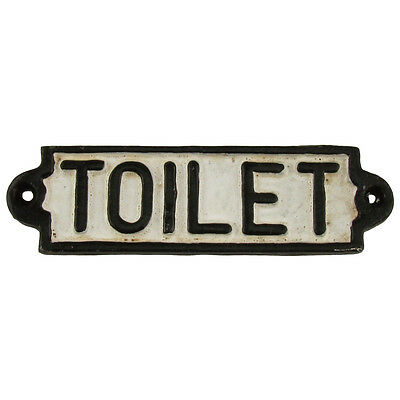 Antique/Vintage Style Cast Iron TOILET Restroom Door Sign Train Room Wall Decor