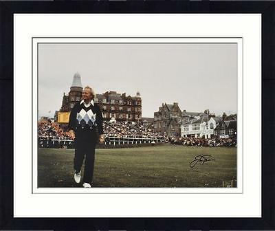 "Framed Jack Nicklaus Autographed 16"" x 20"" 1978 British Open Photograph"