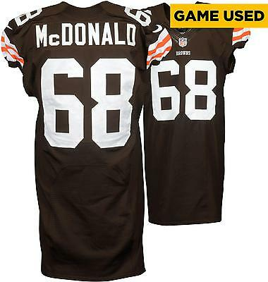 Nick McDonald Cleveland Browns Game Used Brown #68 Jersey from the 2014 Season