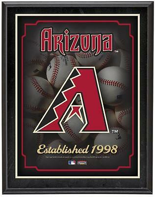 "Arizona Diamondbacks Team Logo Sublimated 10.5"" x 13"" Plaque"