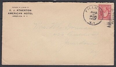 Usa 1917 American Hotel Cover Angelica To Jamestown New York