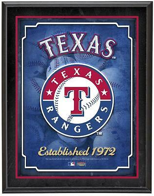 "Texas Rangers Team Logo Sublimated 10.5"" x 13"" Plaque"