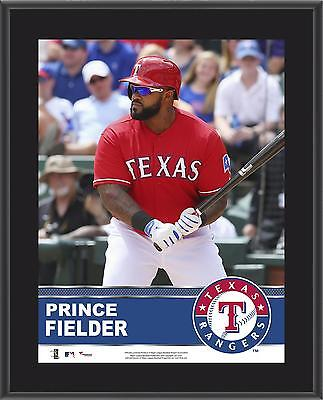 "Prince Fielder Texas Rangers Sublimated 10.5"" x 13"" Plaque"